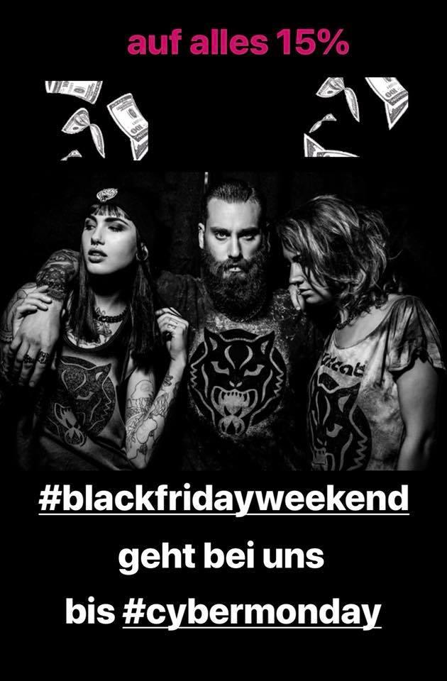 Black Friday Weekend! Bei uns geht es bis Montag. Es gibt auf alles 15%    Und d
