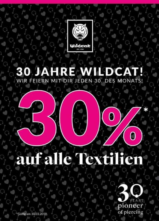 Ihr Lieben!Wildcat feiert dieses Jahr 30 Jahre!Ja,es gibt uns seit 30 Jahren und