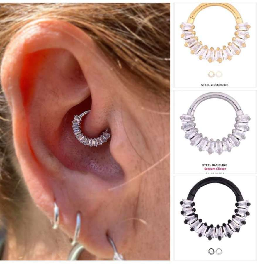 Die Euphoria Clicker sind da!#earpiercing #ohrpiercing #daithpiercing #wildcatpi