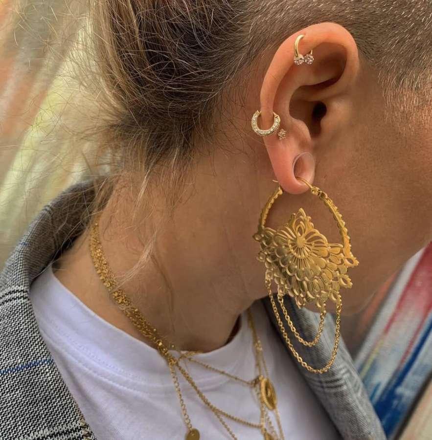 Wir haben jetzt auch #echtgold #piercingschmuck und neue #ohrhänger  #edelstahlo
