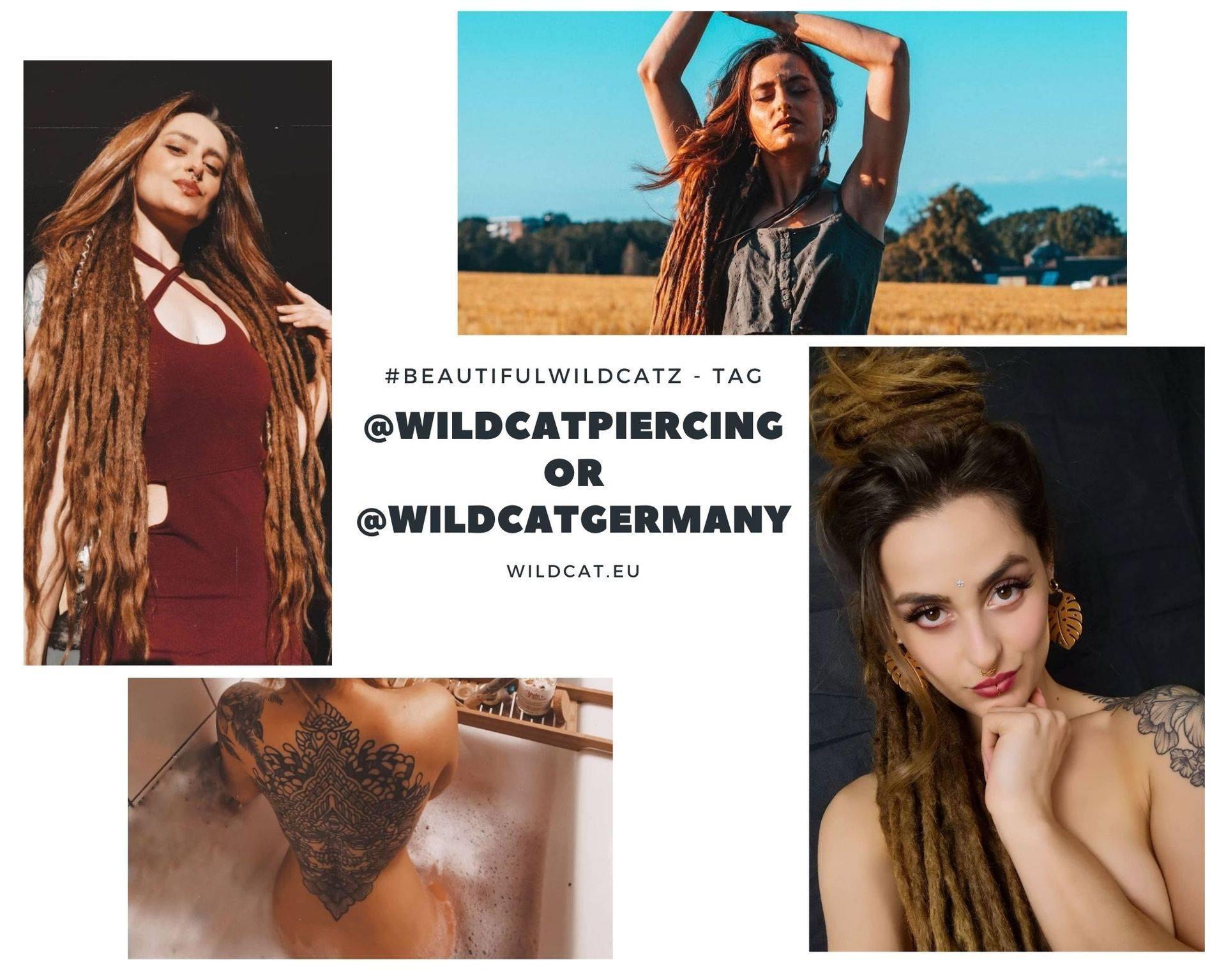 Habt ihr Schmuck von Wildcat? Dann taggt @Wildcatpiercing oder @wildcatgermany i