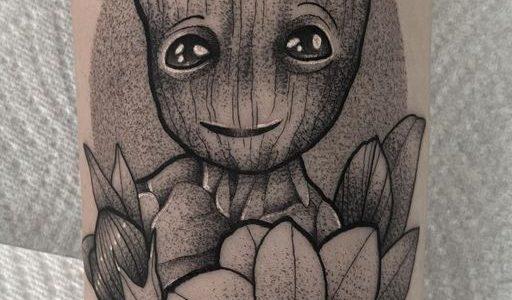 @kimba.tattoo Groot